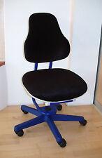 Moll Schreibtischstuhl blau - genialer NEUER Bezug !