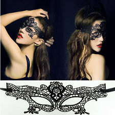 Sexy Black Lace  Eye Mask Fancy Venetian Masquerade Ball Prom Halloween Costume