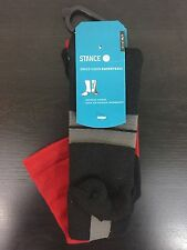 Stance Socks OVERTIME Fusion Basketball *NEW* Moisture Wicking Men's Size L-XL