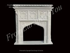 NICE GOTHIC HAND CARVED MARBLE FIREPLACE MANTEL GM1
