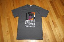"JERZEES HIDENSI-T T-SHIRT GREY SIZE S ""MM RF RACE FOR RESEARCH"" NEW WITHOUT TAGS"