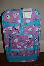 NWT Pottery Barn Kids Mackenzie large rolling luggage suitcase kitty cat Shiloh