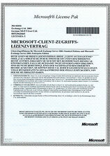 5 licenze CAL USER per Microsoft Exchange 2003 server con IVA FATTURA
