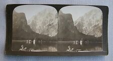 H C White Stereoview of the Konigs-See Bavarian Alps, Germany #2167 (1902)