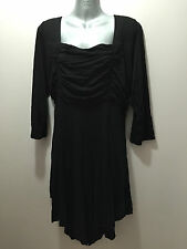 BNWT Womens Sz 18 Autograph Brand Black Half Sleeve Gathered Tunic Top RRP $60