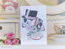 Skeleton Bride & Groom with Swallow Tattoo Valentine's Day Card