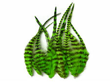 USA SELLER - 1 Dozen - Short Lime Green Grizzly Rooster Saddle Feathers