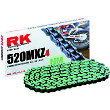 RK HEAVY DUTY CHAIN 520 120 LINK GB520MXZ GREEN  Motocross Enduro