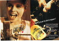 PUBLICITE ADVERTISING  1992   EAU JEUNE    GARCONNE  ( pages) parfum