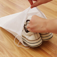 5pcs Outdoor Non-woven Drawstring Travel Shoes Storage Organiser Bags Dust Pouch