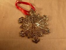 NEW TOWLE STERLING SILVER CHRISTMAS ORNAMENT 2003 OLD MASTER SNOWFLAKE 14TH
