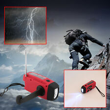 New Solar Dynamo Powered Radio Hand Crank AM/FM 3 LED Flashlight Phone Charger@