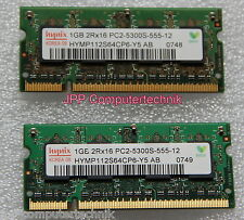 "2GB 2x 1GB Speicher APPLE MacBook Pro 2.33 GHz 17"" DDR2 SODIMM 667 Mhz PC2-5300S"