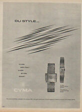 Publicité Advertising 1950 montre  CYMA Print AD