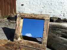 Rustic Reclaimed Driftwood Square Mirror