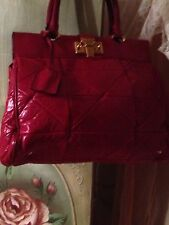 MARC JACOBS FERRARI RED QUILTED LEATHER BAG PURSE HANDBAG SATCHEL RUNWAY!