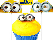NEW! Minions Movie Minion Bob Fun Pix Cupcake Decorations Toppers Moving Eyes!