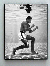 Rare Framed 1961 Muhammad Ali Training Underwater Vintage Photo. Giclée Print