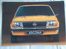 Opel Ascona brochure c1971 Italian text