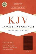 KJV Large Print Compact Bible, Brown LeatherTouch (2013, Imitation Leather)