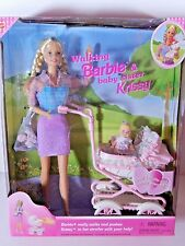 NIB BARBIE DOLL  WALKING & BABY SISTER KRISSY   WELCOME INTER CUS  WE COM SHIP
