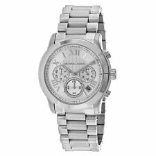 Michael Kors Women's Chronograph Cooper Silver Tone Stainless Steel Watch MK6273