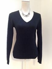 F & F  Ladies 100% PURE CASHMERE black  jumper UK 10