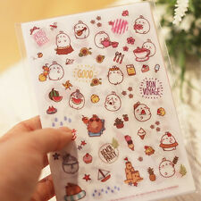 10 Sheets [Cute Molang Sticker Ver.3] Diary Planner Decoration Sticker DIY