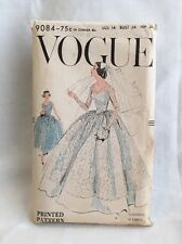 1957 Vintage VOGUE Sewing Pattern Size 14 BRIDAL GOWN BRIDESMAID DRESS Cut 9084