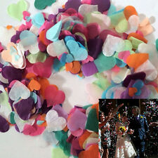 2000X Various Multi Color Heart Paper Flower Wedding Throw Confetti Party Decor