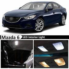 15x White LED Light Interior Package 2014-2017 Mazda 6 Sedan