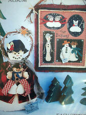 Drifters Snowman family with cat and doorstop  applique embroidery pattern