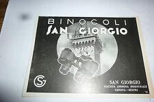 advertising pubblicita' BINOCOLI SAN GIORGIO  - -  1937