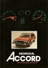 Honda Accord 1979-80 UK Market Sales Brochure 3-dr Hatchback 4-dr Saloon
