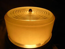 Vintage Atomic Milk Glass Ceiling Light Cake Style