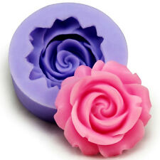 Rose Flower Fondant Cake Chocolate Sugarcraft Mold&Cutter Silicone Tool DIY