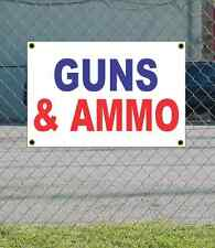 2x3 GUNS & AMMO Red White & Blue Banner Sign NEW Discount Size & Price