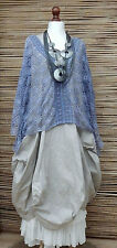 LAGENLOOK AMAZING BEAUTIFUL AMAZING LACE QUIRKY OVERTOP*DUSTY BLUE*SIZE L-XL-XXL