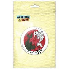 Yin and Yang Red Moon Japanese Asian Koi Carp Fish Pinback Button Pin Badge