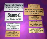 Engraving plate plaque 60mm x (your choice depth) including printing