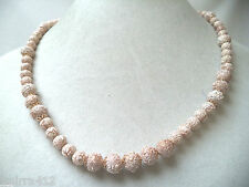 VINTAGE MINT NOS WAREHOUSE 1960'S TEXTURE BEADED SIGNED JAPAN NECKLACE!!! WGA360