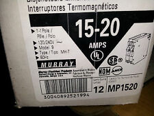 MURRAY MP1520 NEW IN BOX TWIN  BREAKER 12 PACK 1-15A 120V AND 1-20A 120V #B38