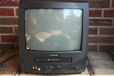 "Emerson TV-VCR Combo EWC1304 13"" Screen For Parts or Repair Not working W/Remote"