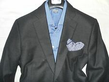 PAUL STUART VTGE Charcoal Gray Men's Two Button 100% Flannel Wool Suit- 44S 34W