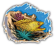 Jeweled Moray Eel Car Bumper Sticker Decal 5'' x 4''