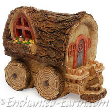 New Miniature / Fairy Garden Woodland wagon/ Log caravan/ Fairy house/Gnome home