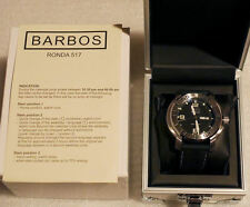Barbos Nautilus Black Day Date Super Luminova  Edelstahl NEU & OVP