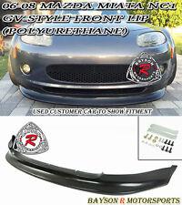GV-Style Front Lip (Urethane) Fits 06-08 Mazda Miata
