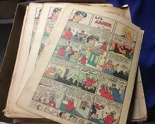 """lot of 250+ 1947-1950 Al Capp """"Lil'Abner"""" Sunday & Daily color comic strip pages"""