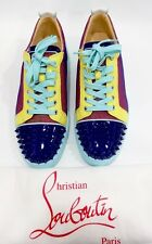NEW CHRISTIAN LOUBOUTIN Louis Junior Spikes Flat Patent Lowtop Sneakers Shoe 10